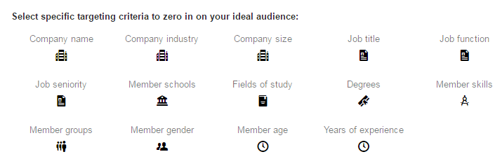 Select Specific Targeting Criteria on LinkedIn